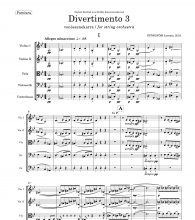 Beginning of Divertimento 3